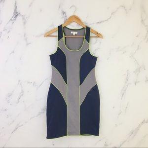 UO Silence + Noise Bodycon Color Block Dress Grey